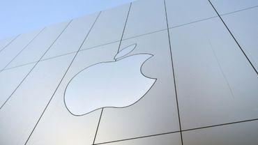 Logo Apple à San Francisco, en Californie, le 22 septembre 2017