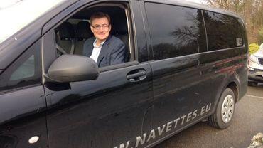 Christian Glineur dirige la société Navettes.eu et ses plannings de transports sont chahutés ces derniers jours