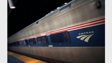 Un train de la compagnie américaine Amtrak le 8 février 2011 à Newark dans le New Jersey
