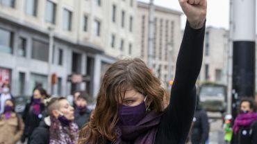 Action contre les violences faites aux femmes, à Bruxelles, le 22 novembre.