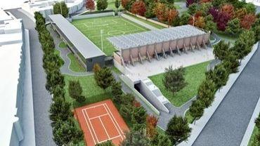 Photo du projet de réhabilitation de la zone du Crossing à Schaerbeek par Beliris