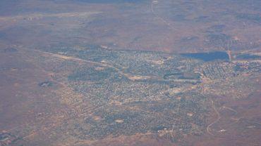 Vue aérienne de Kolwezi, en 2006