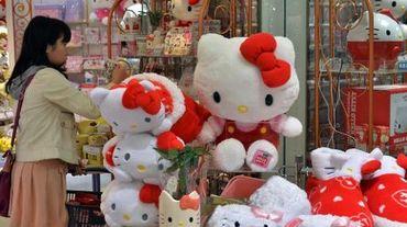 Des peluches Hello Kitty dans la boutique Sanrio à Tokyo le 17 octobre 2014