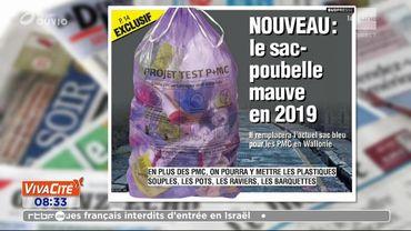 Nouveau : un sac-poubelle mauve en 2019 !