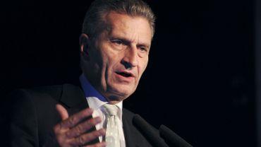 Le commissaire européen à l'Economie numérique Günther Oettinger.