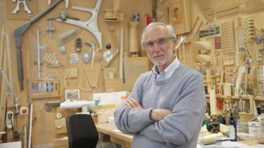 L'architecte italien Renzo Piano dans son atelier à Paris en 2015