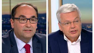 Ahmed Laaouej (PS) et Didier Reynders (MR)
