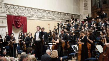 Archives : concert au Conservatoire Royal de Bruxelles, lors de la présidence polonaise de l'Union Européenne