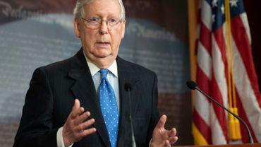 Mitch McConnel, le chef de la majorité républicaine au Sénat, le 17 mars 2020 à Washington