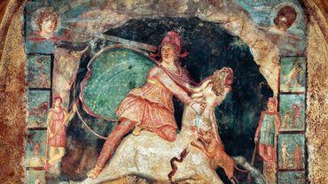 Mithreum de Marino (dans le cadre de l'exposition 'Le Mystère Mithra : Plongée au cœur d'un culte romain', 20 novembre 2021 au 17 avril 2022 au Musée Royal de Mariemont)