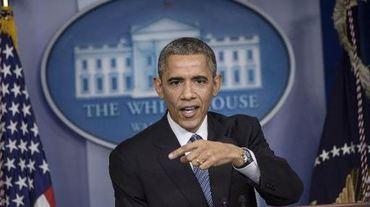 Le président Barack Obama donne une conférence de presse à la Maison Blanche, le 19 décembre 2014