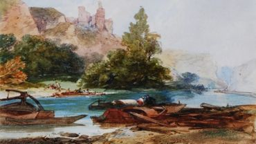 Dinan [sic] on the Meuse, 19th Century, William James Müller