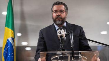 Le ministre des Affaires étrangères brésilien, Ernesto Araújo.
