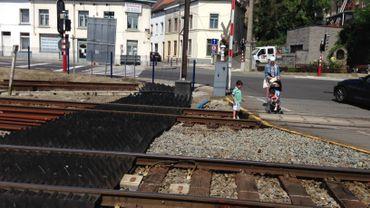 Le tapis anti-trespassing installé par Infrabel à Wavre