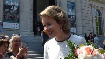 La reine Mathilde a visité le musée « La Boverie » à Liège