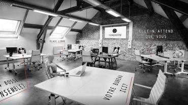 Une vue de l'atelier créatif partagé Composite à Marcinelle