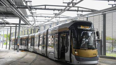 Un tram STIB de la région bruxelloise