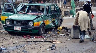 Une explosion perpétrée par Boko Haram le 31 juillet 2015 dans un marché de Maiduguri au nord-est du Nigeria