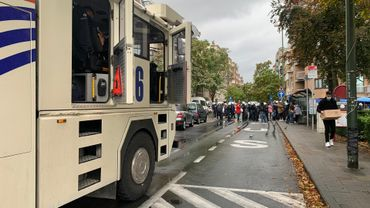 Bruxelles: un gros déploiement policier pour disperser une manifestation de ressortissants guinéens