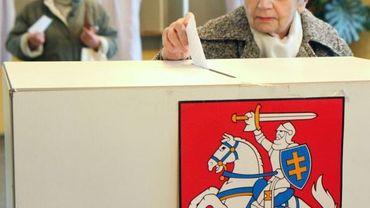 Bureau de vote à Vilnius