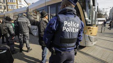 De nombreux policiers ont été mobilisé pour cette grosse opération de contrôles dans les transports en commun à Bruxelles