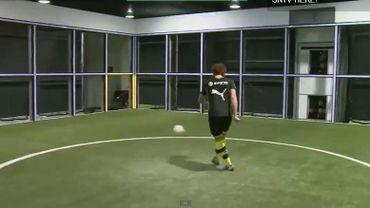Un joueur de Dortmund dans la fameuse cage