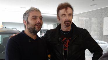 Jérôme Colin a emmené l'écrivain TC Boyle en balade à Bruxelles