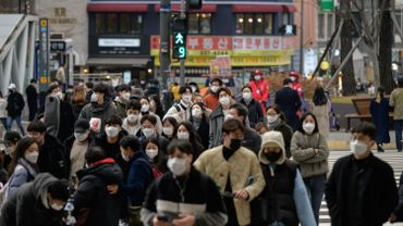 Port du masque à Séoul, la capitale de la Corée du Sud