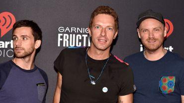 Guy Berryman, Chris Martin et Jonny Buckland, du groupe Coldplay