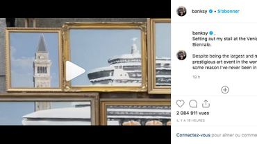 Le célèbre artiste de rue Banksy a révélé, à sa manière, qu'il s'était invité à la Biennale de Venise.