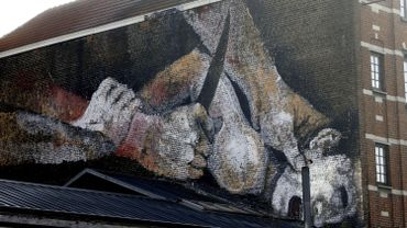 Nouvelle fresque de rue à Bruxelles:la Ville ne fera couvrir ou effacer la fresque qu'en cas de trouble à l'ordre