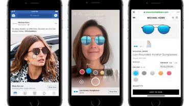 Facebook débute des publicités en réalité augmentée