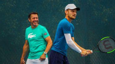 "Thierry Van Cleemput, le coach de Goffin: ""David peut négocier Medvedev. Il y a moyen"""