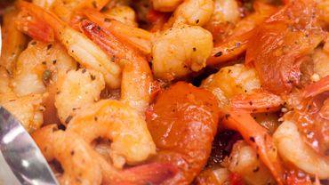 Recette de Candice: Scampis caramélisés et salsa au Campari