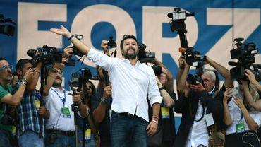 Le leader souverainiste italien Matteo Salvini au congrès annuel de son parti à Pontida, le 15 septembre 2019