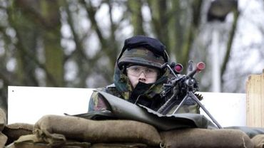 Soldat belge à l'entraînement