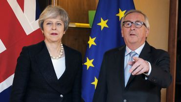 Jean-Claude Juncker et Theresa May à Strasbourg le 11 mars 2019