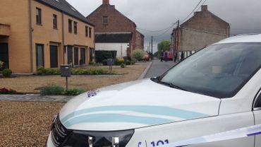 Un périmètre de sécurité a été instauré à proximité de la rue de la Gripelotte à Anderlues