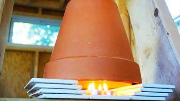 un chauffage d 39 appoint avec des bougies sympa zen et conomique. Black Bedroom Furniture Sets. Home Design Ideas