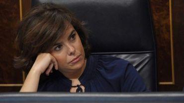 La vice première ministre espagnole Soraya Saenz de Santamaria le 13 juin 2017 à Madrid