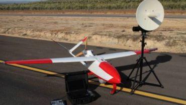 Un drone belge rouge et blanc s'est écrasé en France