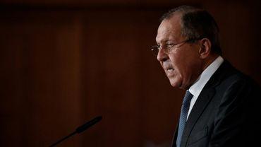 Le ministre russe des Affaires étrangères Sergueï Lavrov, le 13 juillet 2017 à Berlin