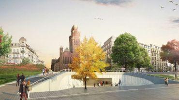 Une esquisse de la future station Riga