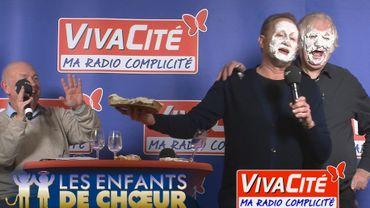 """Le jour où Benoit Poelvoorde et Noël Godin se sont """"entartés"""""""