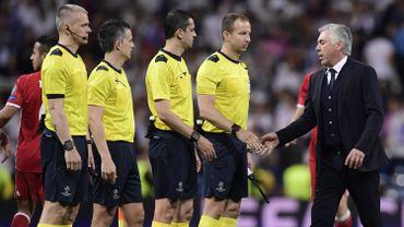 "Ancelotti stigmatise ""une série d'erreurs"" d'arbitrage"