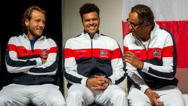Lucas Pouille, Jo-Wilfried Tsonga et Yannick Noah