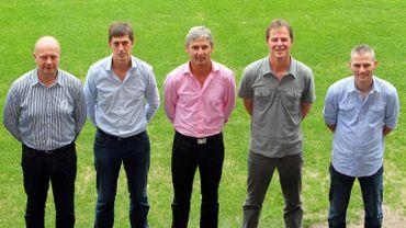 Le nouveau staff du Standard (Balette, de Sart, Riga, Galjé et Smeets)