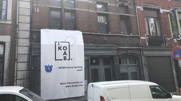 Cet immeuble de la rue Hors-Château est une des maisons partagées qu'IKOAB fait aménager à Liège
