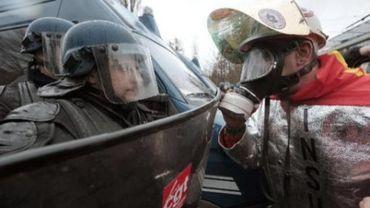Un manifestant belge, venu protester contre les femetures annoncées chez Arcelor, a été blessé à Strasbourg