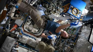 L'astronaute américaine Anne McClain, le 1er février 2019 dans la Station spatiale internationale